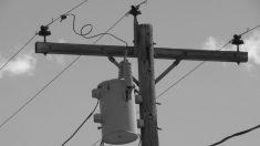 Hombre se electrocuta tratando de robar alambre de cobre del transformador de un poste eléctrico