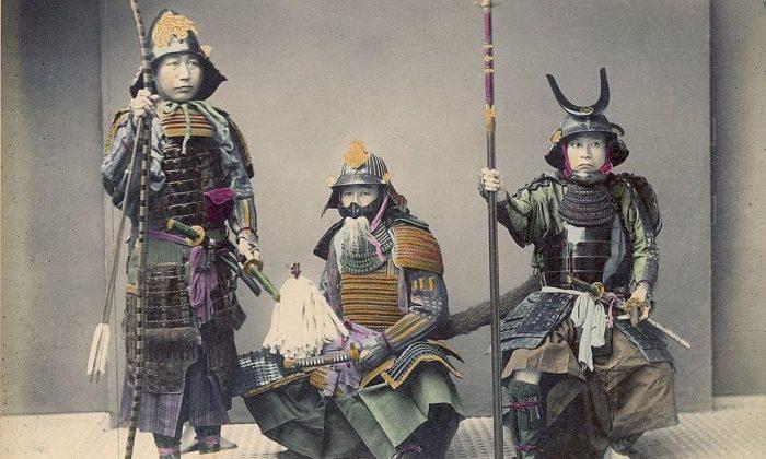 Una foto de samurai en armadura por Kusakabe Kimbei. (Dominio público)