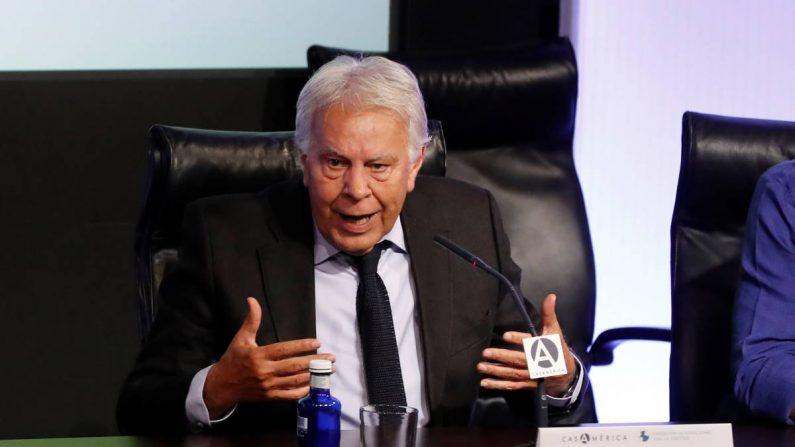 El expresidente del Gobierno español Felipe González. EFE/Ballesteros/Archivo