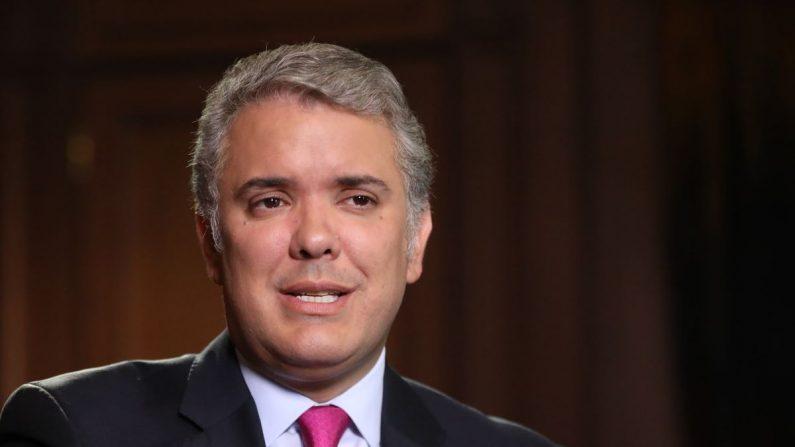 El presidente colombiano, Iván Duque, con EFE en Bogotá. EFE/Juan Diego López