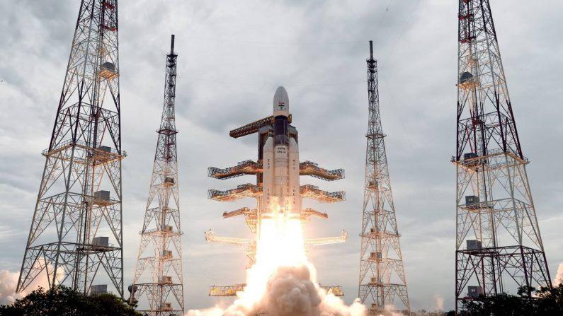 India busca hacer historia con su misión al inexplorado polo sur de la Luna. EFE/EPA/ISRO
