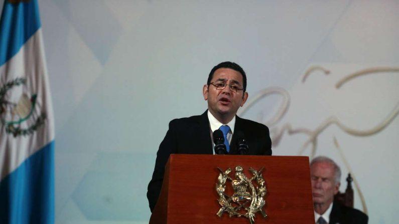 El presidente de Guatemala, Jimmy Morales. EFE/Esteban Biba/Archivo