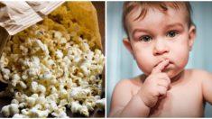 Niña de 2 años muere al ahogarse con un grano de palomitas de maíz, familia advierte del peligro