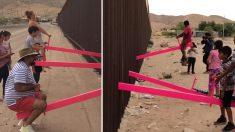 Profesor aprovecha la valla entre EE.UU. y México para crear tres balancines