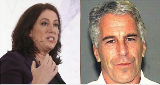 Christine Pelosi (Phillip Faraone/Getty Images for Politicon) y Jeffrey Epstein (Dominio publico)
