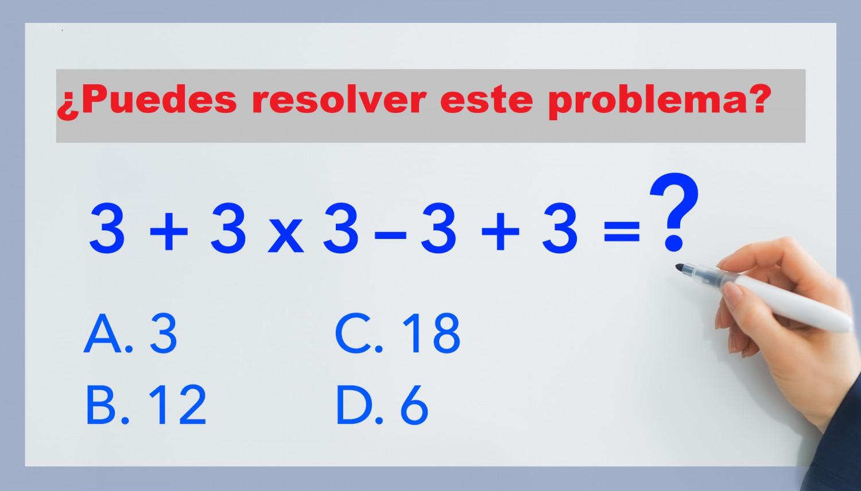 Eres Lo Suficientemente Inteligente Para Resolver Este Problema Matematico La Mayoria Se Equivoca Matematicas The Epoch Times En Espanol