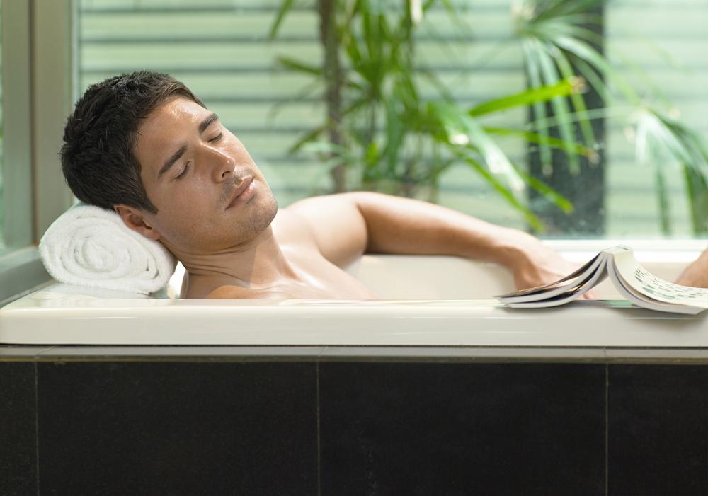 baño en tina