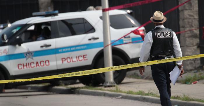 Foto ilustrativa de patrullero de la ciudad de Chicago, EE. UU. Foto de Scott Olson/Getty Images.