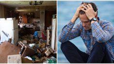 Propietario cansado devuelve la basura dejada por sus inquilinos y se la arroja en la puerta de su casa