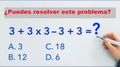 ¿Eres lo suficientemente inteligente para resolver este problema matemático? ¡La mayoría se equivoca!