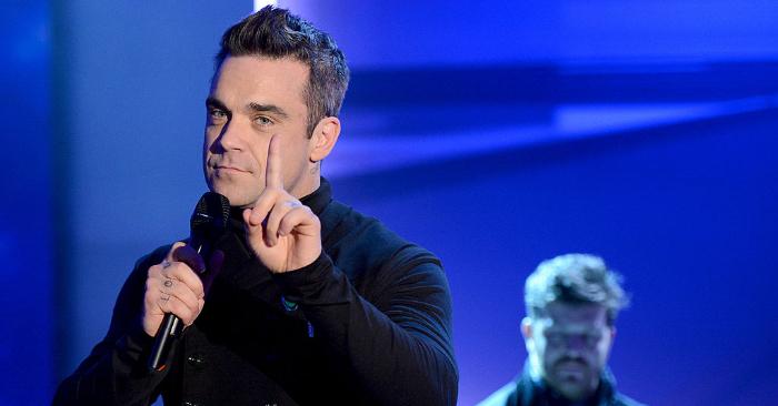 Actuación de Robbie Williams en Bremen, Alemania, el 3 de noviembre de 2012. Foto de Sascha Baumann/ZDF vía Getty Images)