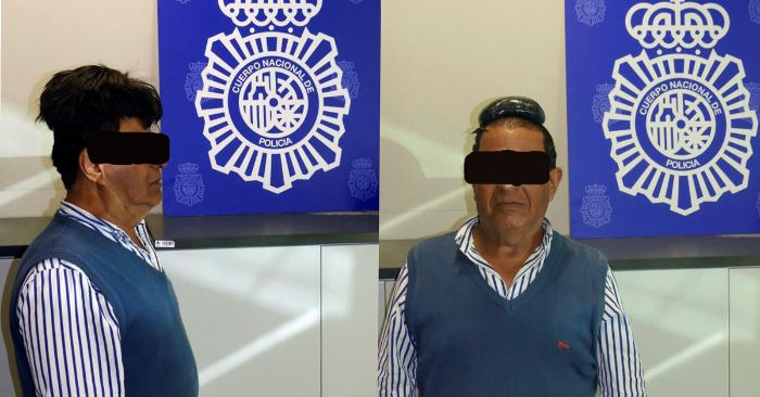 Detienen a un hombre en el Aeropuerto de El Prat (Barcelona), procedente de Bogotá, que ocultaba medio kilo de cocaína en el doble fondo de su peluquín. EFE/Policía Nacional.