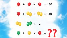 ¿Puedes resolver este problema matemático viral? No dejes que los globos te confundan