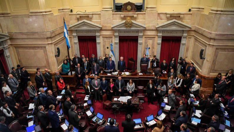 Vista del Senado argentino en Buenos Aires el 08 de agosto de 2018. (EITAN ABRAMOVICH/AFP/Getty Images)