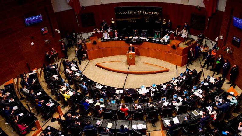 Senado de México, en la Ciudad de México, el 29 de mayo de 2019. (PEDRO PARDO/AFP/Getty Images)