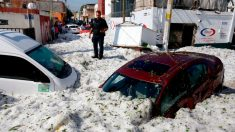 Granizada en Guadalajara deja 1,5 metros de hielo mientras se forma tormenta en el Pacífico