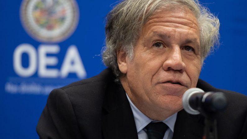 El Secretario General de la OEA, Luis Almagro, habla sobre la situación en Venezuela durante una conferencia de prensa en la sede de la Organización de los Estados Americanos en Washington, DC, el 12 de julio de 2019. (SAUL LOEB/AFP/Getty Images)