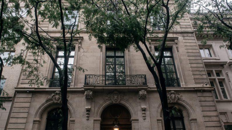 La residencia de Jeffrey Epstein en Manhattan de Nueva York el 18 de julio de 2019 (Scott Heins/Getty Images)
