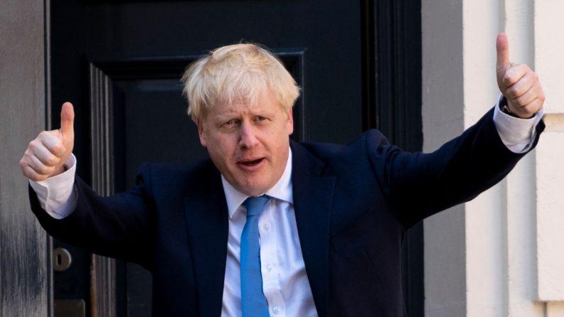 El nuevo líder del Partido Conservador y primer ministro entrante, Boris Johnson, llega a la sede del Partido Conservador en el centro de Londres el 23 de julio de 2019. (LEON NEAL/AFP/Getty Images)