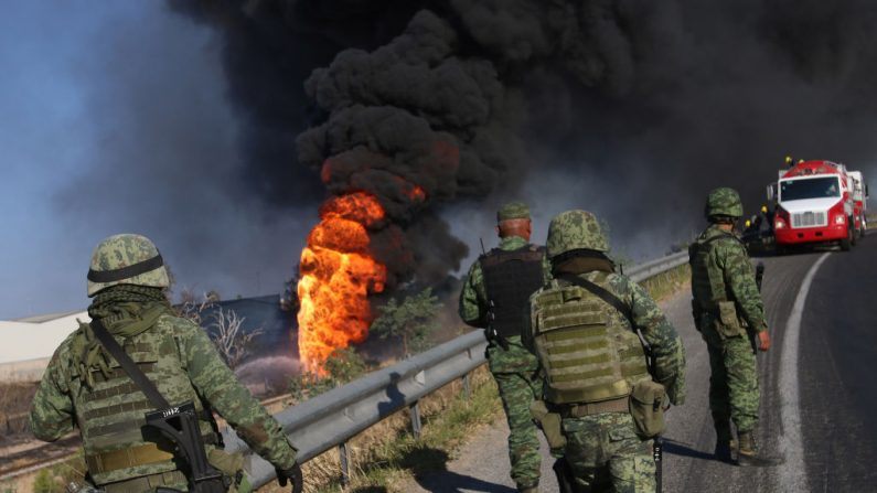 Imagen ilustrativa de explosión de un gasoducto en Zapopan, Estado de Jalisco, México, el 14 de febrero de 2017. (STR/AFP/Getty Images)