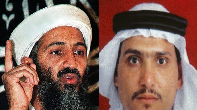 Un combo muestra al líder de Al-Qaeda Osama bin Laden y Abu Hamza al-Muhajer, quien fue apoyado por bin Laden como sucesor del asesinado Abu Musab al-Zarqawi como jefe de la red en Irak. (AFP/Getty Images)