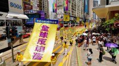 Hong Kong: Practicantes de Falun Dafa marchan por los 20 años de persecución en China