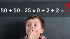 Un simple acertijo matemático para solucionar sin calculadora. ¡La mayoría se equivoca!