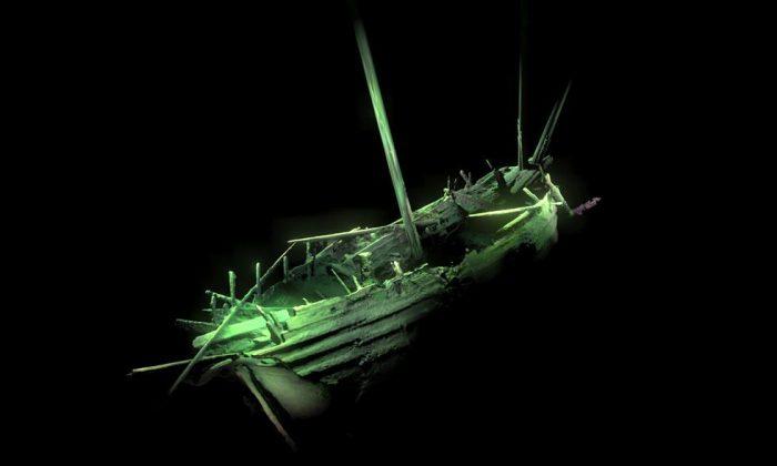 Una imagen en 3D del naufragio en el Mar Báltico. (Deep Sea Productions/MMT)