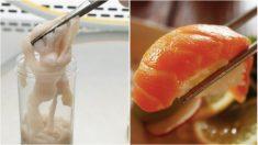 Un hombre expulsa lombriz de 1.5 metros y su médico sospecha que su afición al sushi es la culpable
