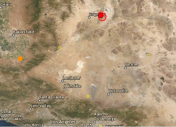 Terremoto en California el 4 de julio de 2019. ( Centro sismológico SCEM)