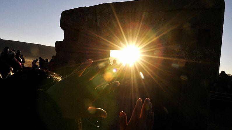 Puerta del Sol, Tiahuanaco. (Crédito: AIZAR RALDES/AFP/Getty Images)