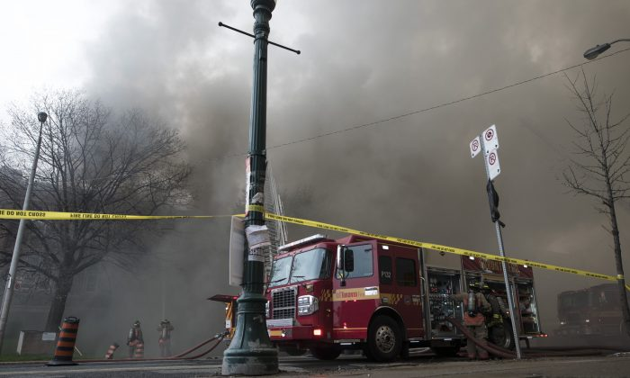 Imagen ilustrativa de un camión de bomberos. (Tijana Martin/The Canadian Press)