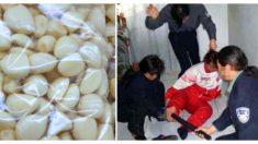 Advertencia: el ajo pelado importado de China, podría ser procesado por manos manchadas de sangre