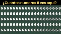 ¿Cuántos números 8 se esconden en esta engañosa imagen? La mayoría de la gente se equivoca
