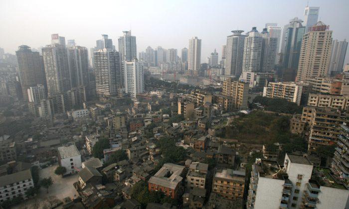 Vista aérea de la ciudad de Chongqing en China. (Fotos de China/Imágenes de Getty)