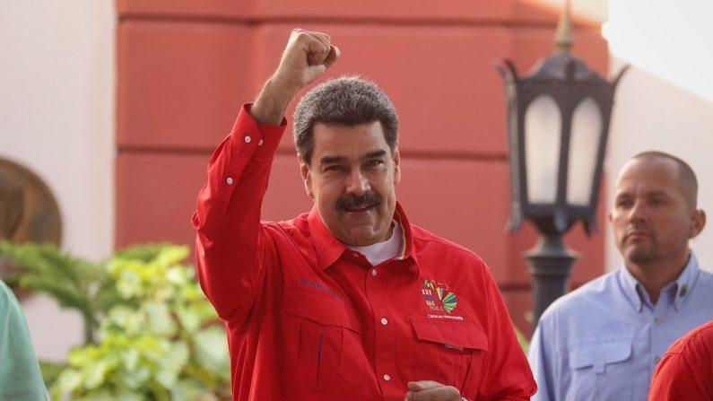 El dictador venezolano Nicolás Maduro durante la clausura del Foro de Sao Paulo en Caracas (Venezuela) el 28 de julio de 2019. EFE/ Rayner Peña