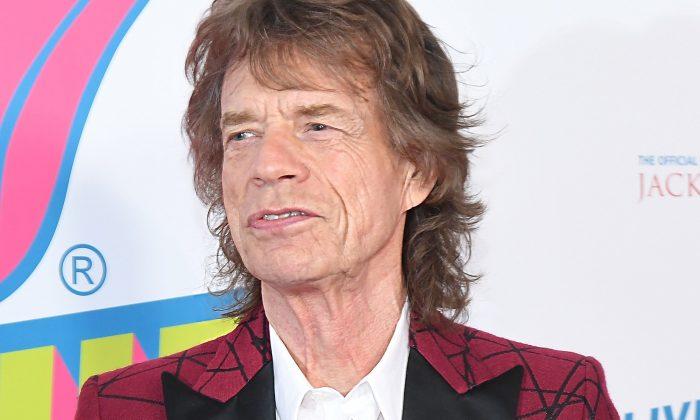 """Mick Jagger de The Rolling Stones asiste a la celebración del debut norteamericano de """"Exhibicionismo"""" en Industria en West Village, ciudad de Nueva York, el 15 de noviembre de 2016. (Angela Weiss/AFP/Getty Images)"""