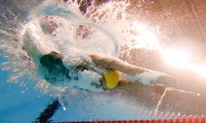 Un nadador en una competencia en China. (Francois-Xavier Marit/AFP/Getty Images)