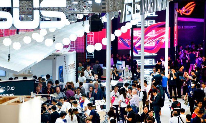 Computex, en el centro de exposiciones de Nangang en Taipei, el 28 de mayo de 2019. (Chris Stowers/AFP/Getty Images)