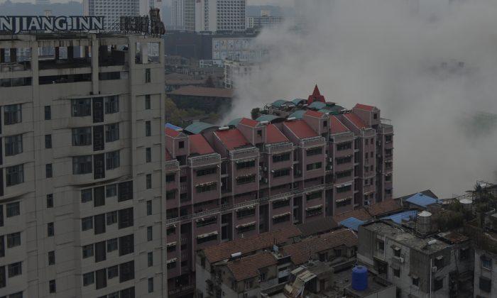 Edificios en la provincia de Zhejiang, China. (VCG/VCG vía Getty Images)