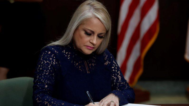 La gobernadora de Puerto Rico, Wanda Vázquez. (Thais Llorca/EFE)