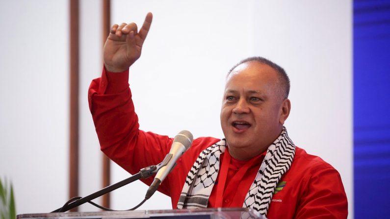 El primer vicepresidente del Partido Socialista Unido de Venezuela (PSUV), Diosdado Cabello. EFE/Rayner Peña/Archivo