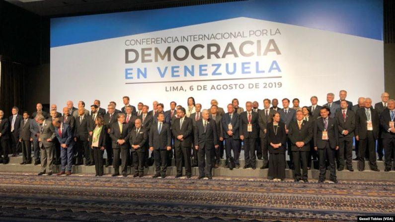 59 países se reúnen en Lima, Perú en la Conferencia Internacional por la Democracia en Venezuela en busca de una salida a la crisis en el país caribeño. (VOA)