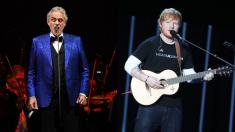 """Ed Sheeran canta junto a Andrea Bocelli y hacen una combinación """"Perfecta"""""""