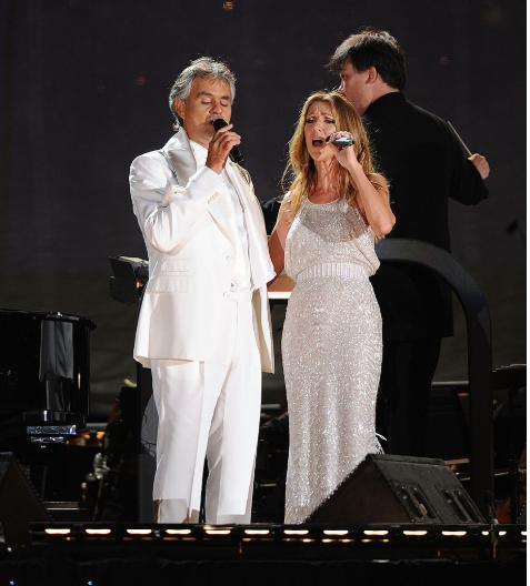 Celine Dion y Andrea Bochelli