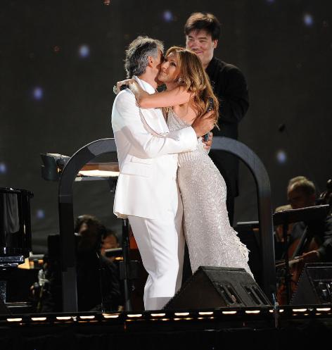Andrea Bocelli y Céline Dion