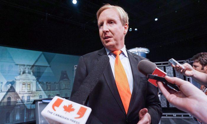 O ministro da Educação de New Brunswick, Dominic Cardy, em uma foto de arquivo (Imprensa Canadense / Marc Grandmaison)