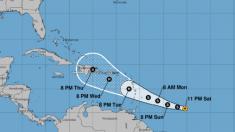 Tormenta tropical Dorian se fortalece y podría ser un huracán cerca de Puerto Rico y R. Dominicana