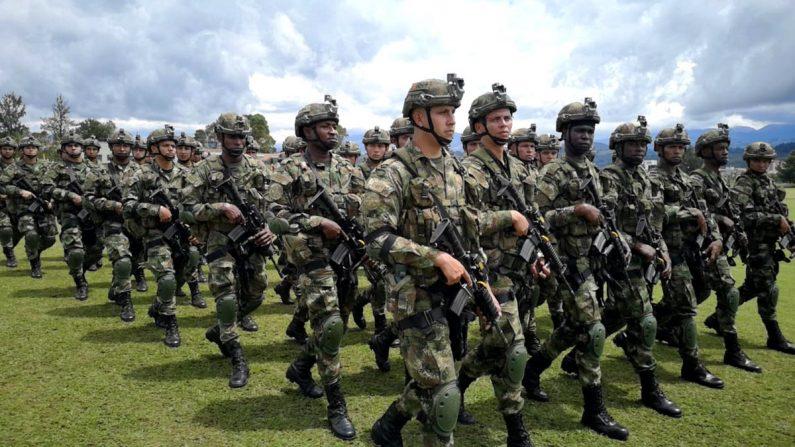 Colombia despliega más de 1000 militares para reforzar la seguridad en el departamento del Cauca ante el escalamiento de la violencia por el control del narcotráfico. (COL_EJERCITO/Twitter)