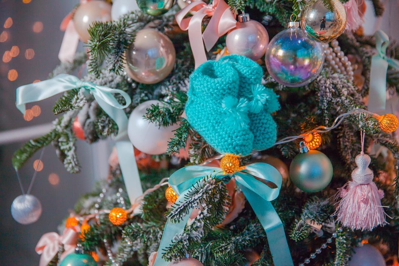 navidad-árbol-bebé